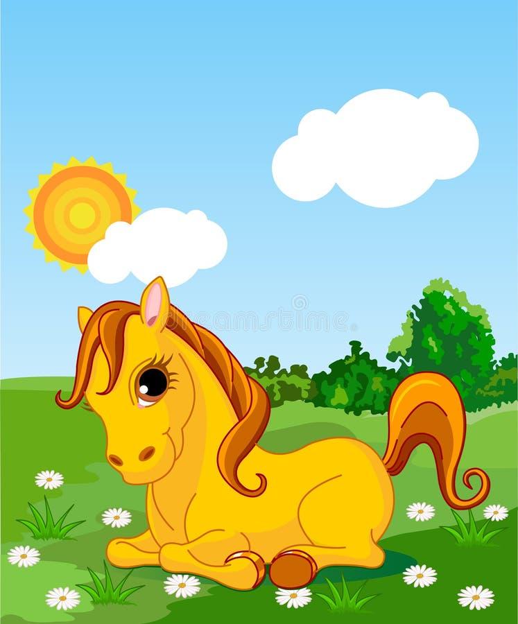 złoty koń ilustracja wektor