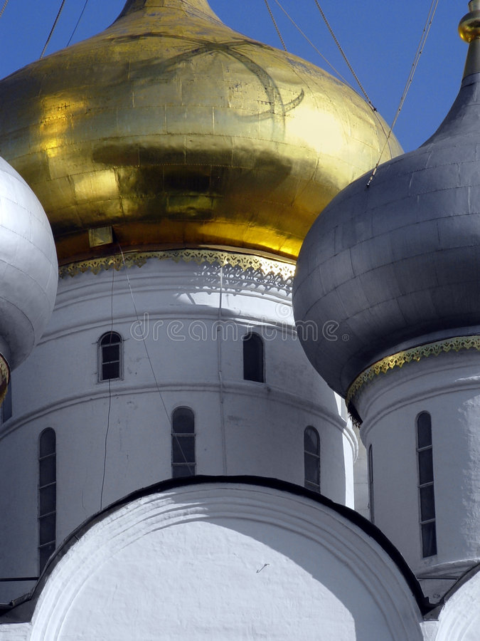 złoty kopuły pionowe fotografia royalty free