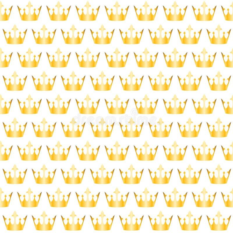 Złoty korona wzór ilustracja wektor