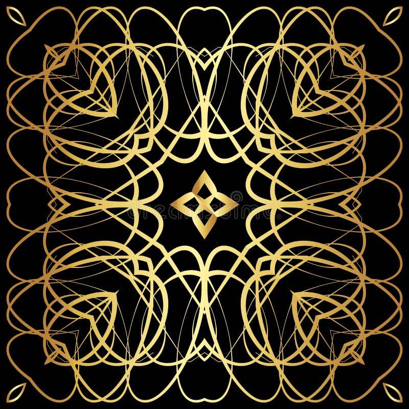 Złoty koronka wzór ilustracji