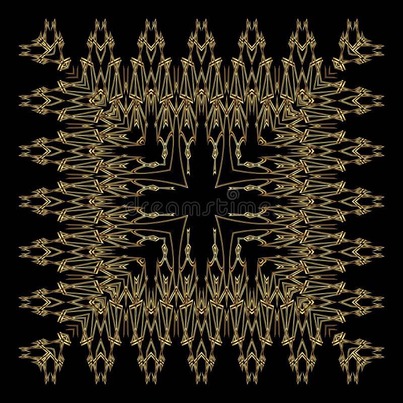 Złoty koronka wzór royalty ilustracja
