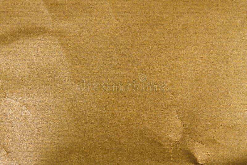 złoty Kraft papier obraz royalty free