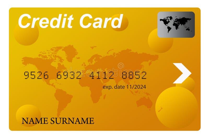 złoty kredytowe karty ilustracji