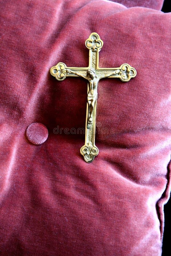 złoty krzyż zdjęcia royalty free
