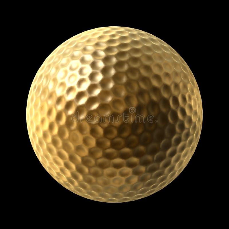 złoty kulowego w golfa ilustracji