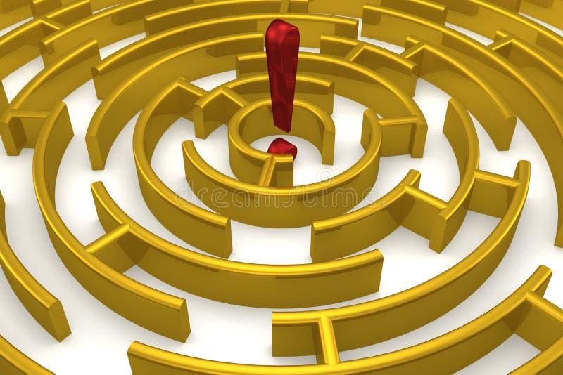 złoty labirynt odbicia royalty ilustracja