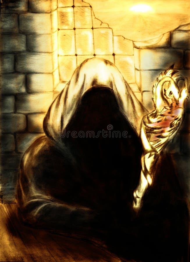 złoty lekki mage ilustracji