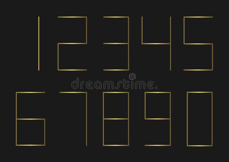 złoty liczba zestaw ilustracji