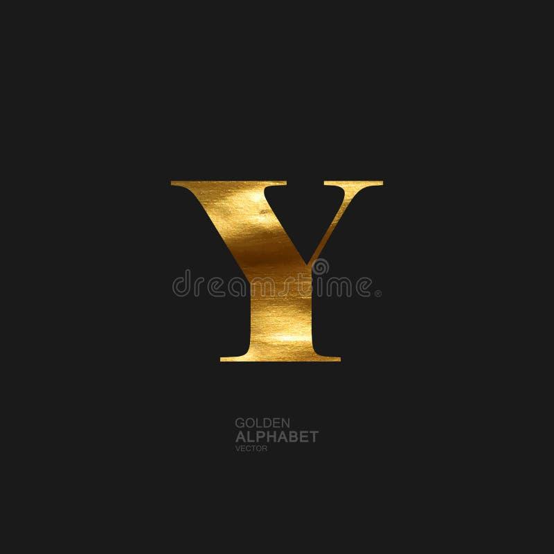 Złoty list Y ilustracji