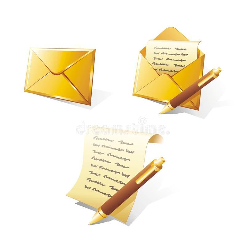 złoty listowy set obraz royalty free