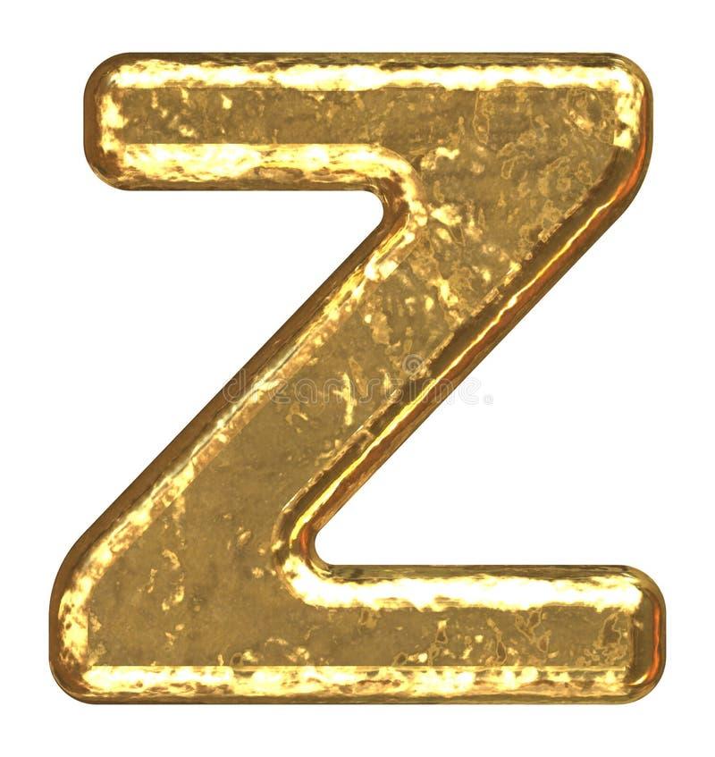 złoty listu font royalty ilustracja
