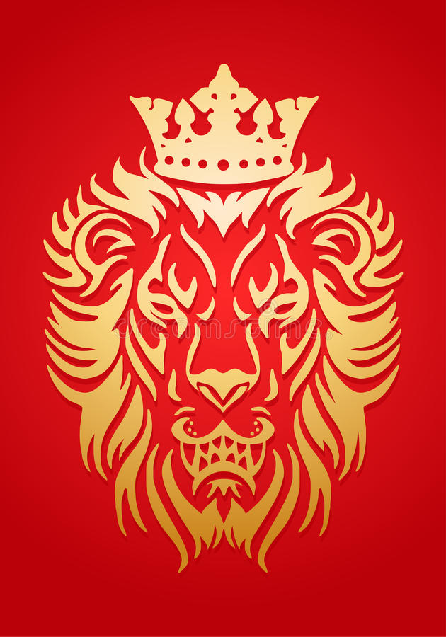 Złoty lwa królewiątko royalty ilustracja