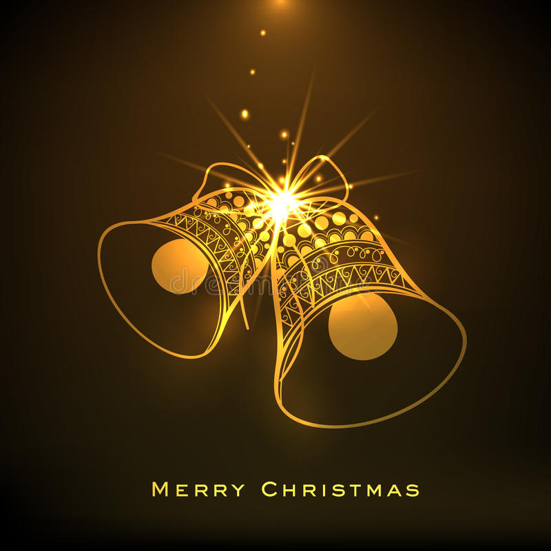 Złoty Mas drzewo dla Wesoło bożych narodzeń świętowań ilustracja wektor
