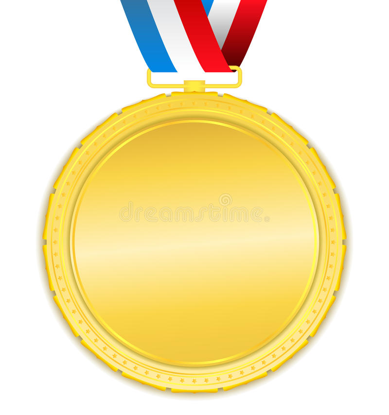 złoty medal ilustracja wektor