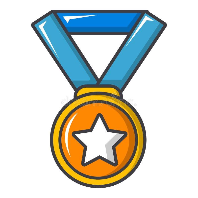 Złoty medal ikona, kreskówka styl ilustracji