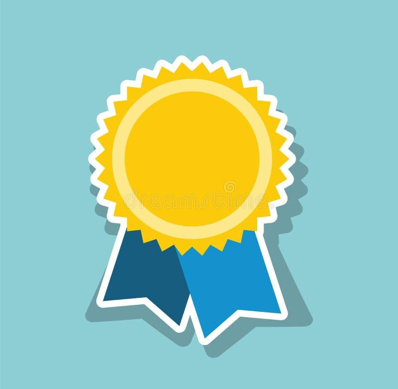 Złoty medal Ikona medal Sztuki mieszkanie dla sieci royalty ilustracja