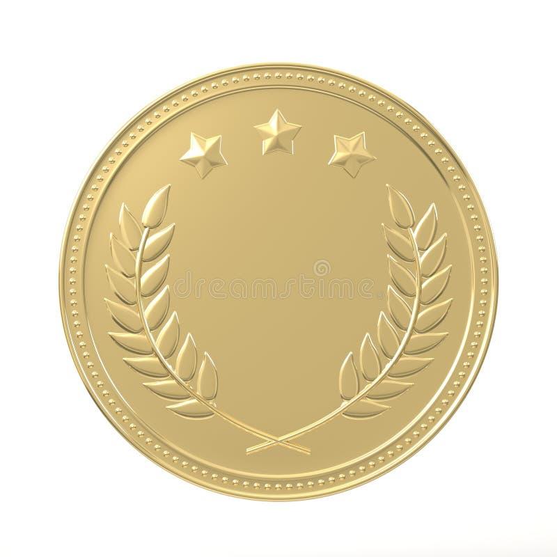 złoty medal wektora ilustracja wektor