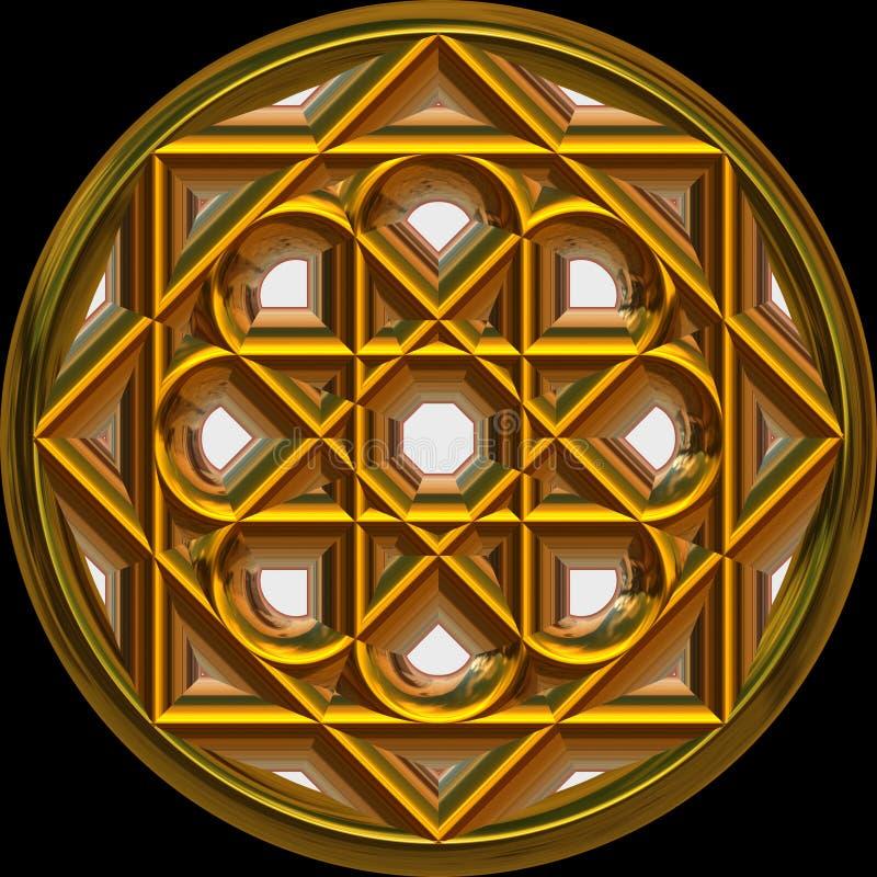 złoty medalion średniowieczny ilustracja wektor