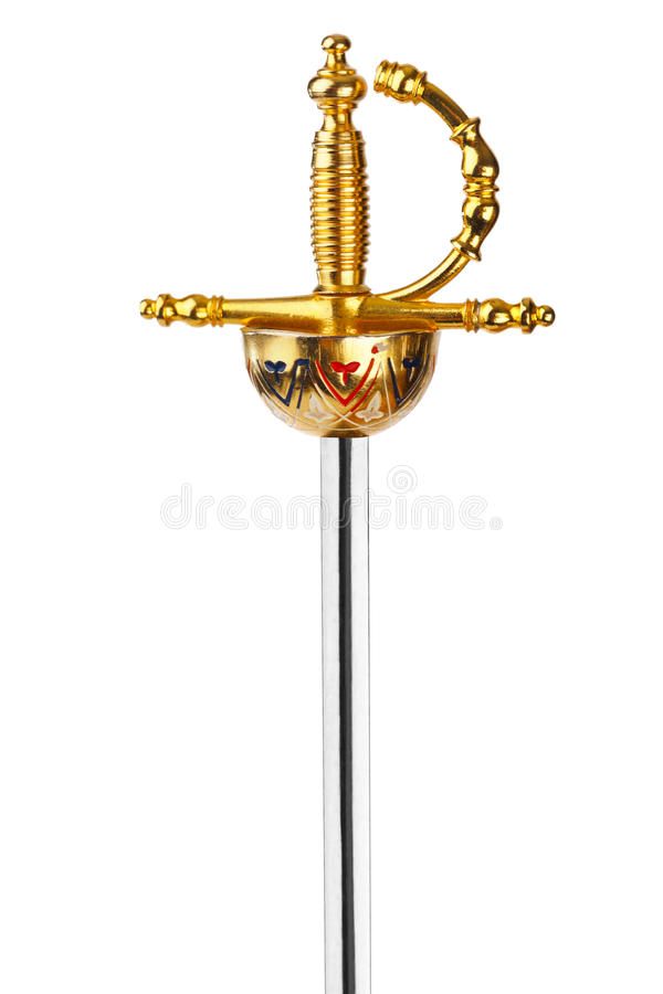 złoty miecz zdjęcia stock