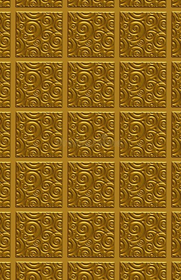 złoty model płytka surowa ilustracji