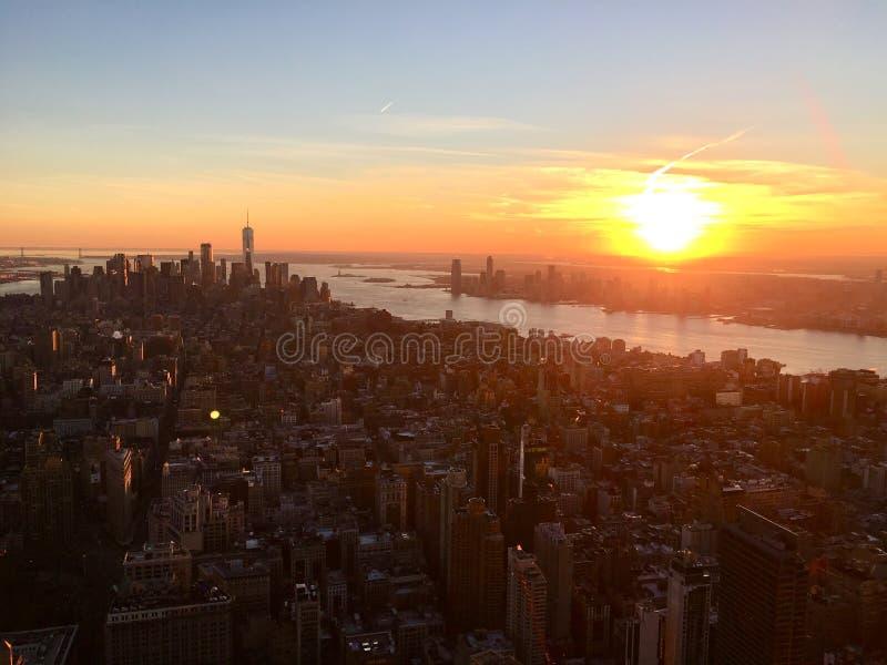 Złoty Nowy Jork Cit zdjęcie royalty free