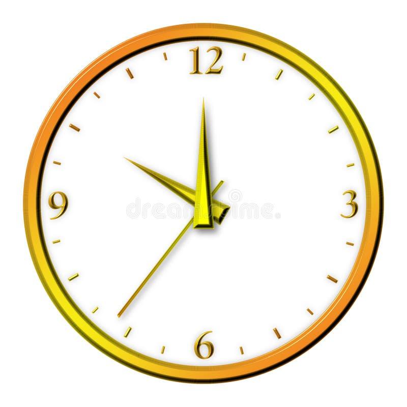 złoty odosobnione zegar ilustracji