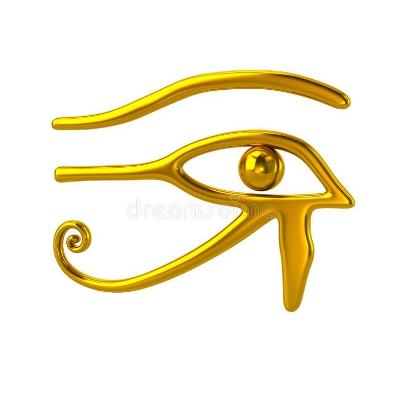 Złoty oko Horus symbol royalty ilustracja