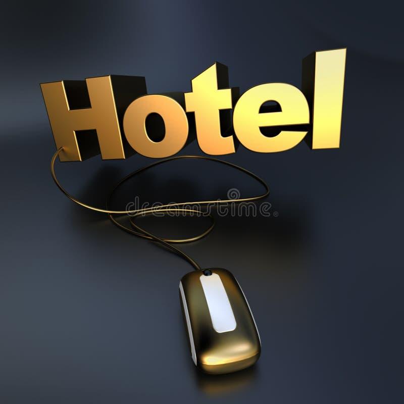 Złoty Online hotel ilustracji