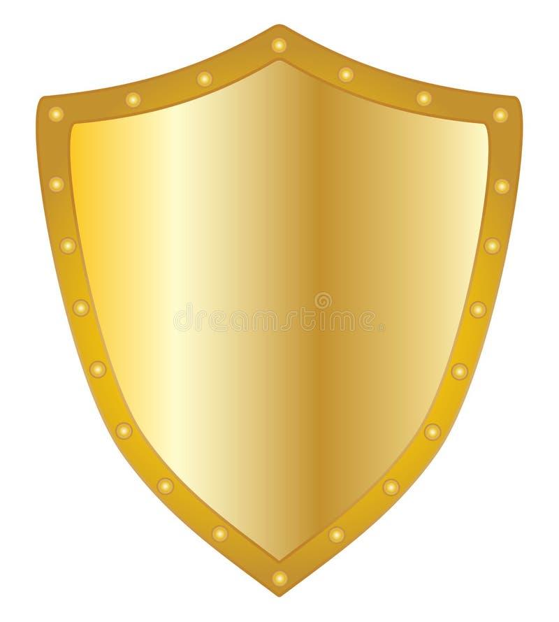 Złoty osłona kształta wektor eps 10 ilustracji
