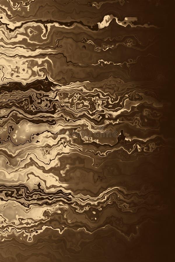 Złoty półkowy tło i błyszczący złocisty materiał, brązowy aliaż ilustracji