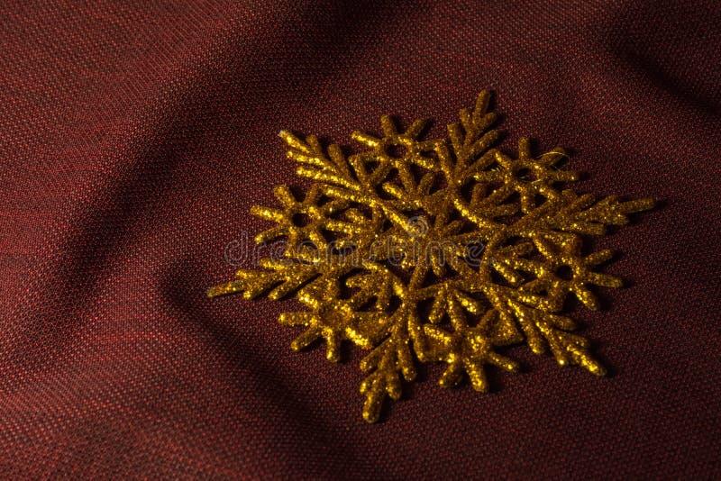 złoty płatek śniegu fotografia stock