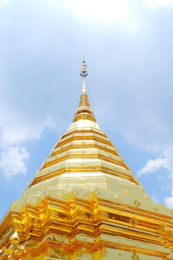 złoty pagodowy tajlandzki zdjęcie stock
