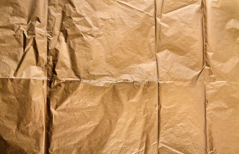 Złoty papierowy tekstury tło zdjęcie stock