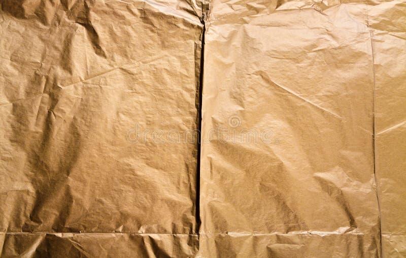 Złoty papierowy tekstury tło zdjęcia royalty free