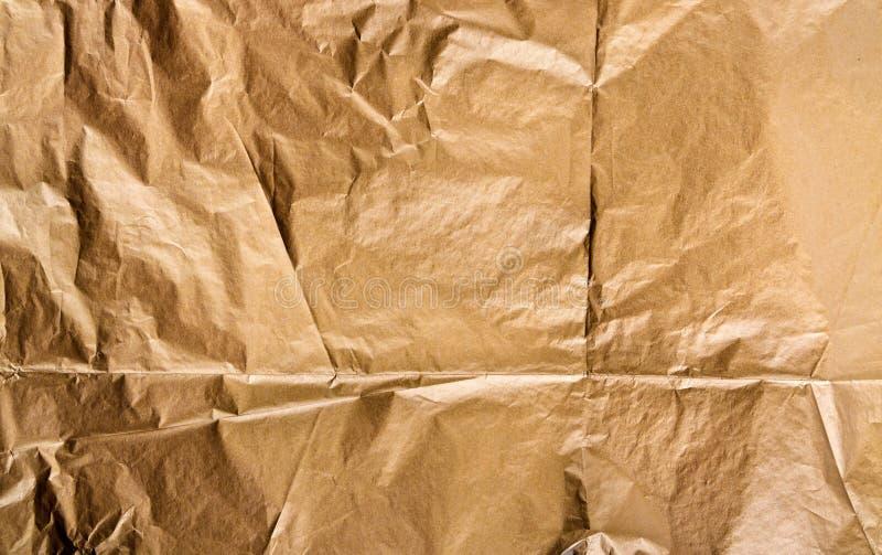 Złoty papierowy tekstury tło obraz royalty free