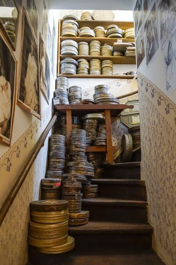 Złoty pas ruchu, Praga, republika czech zdjęcia stock
