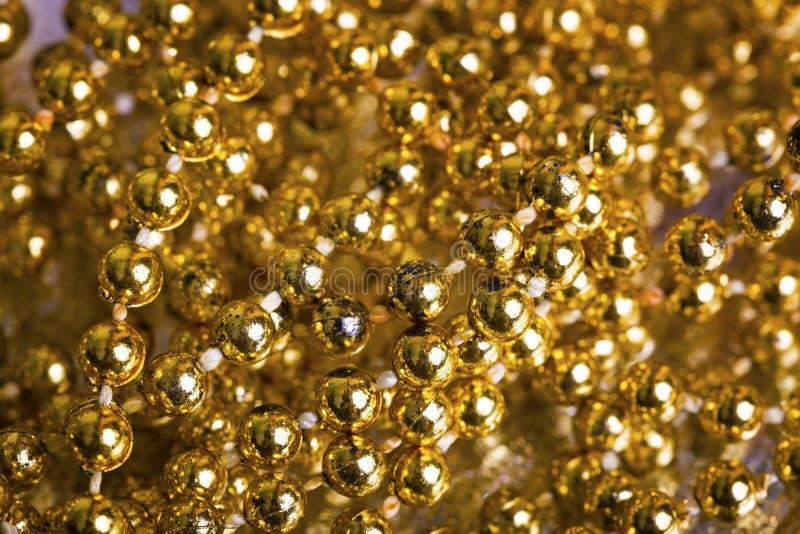Złoty perły tło fotografia royalty free