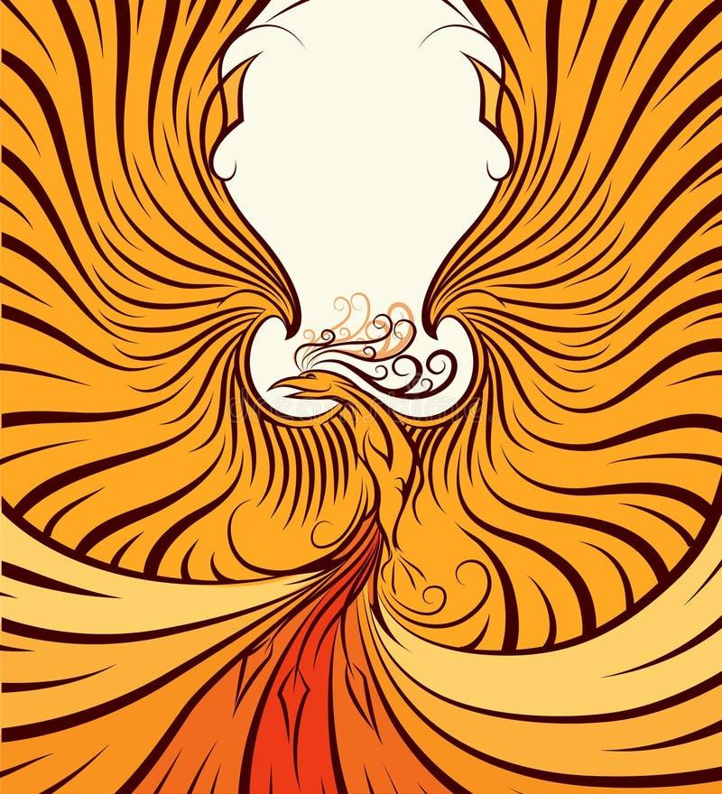Złoty Phoenix royalty ilustracja
