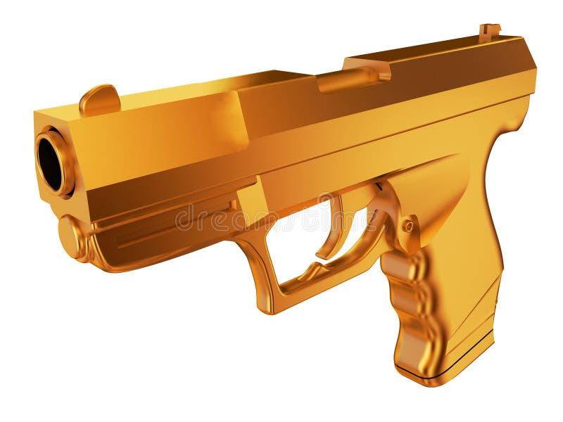 Złoty pistolet ilustracja wektor