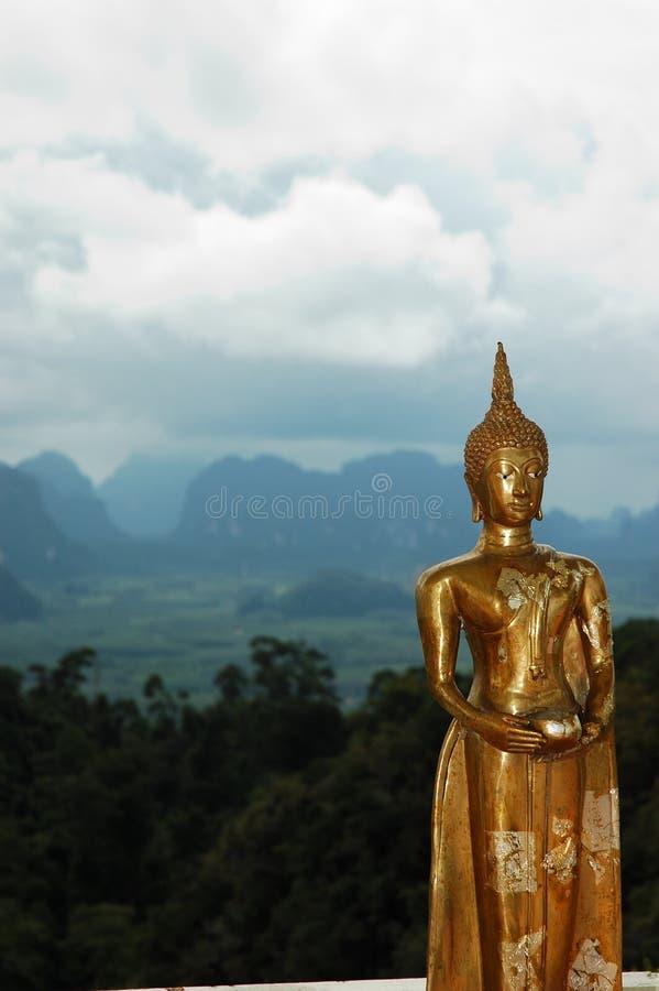 złoty posąg buddy Thailand obraz stock