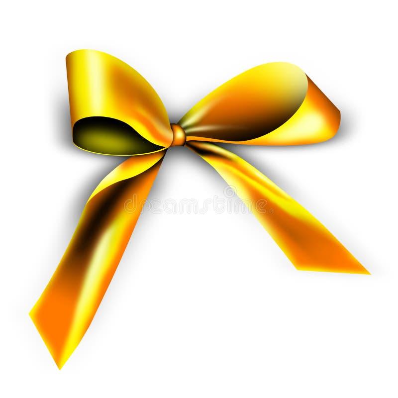 złoty prezenta faborek royalty ilustracja