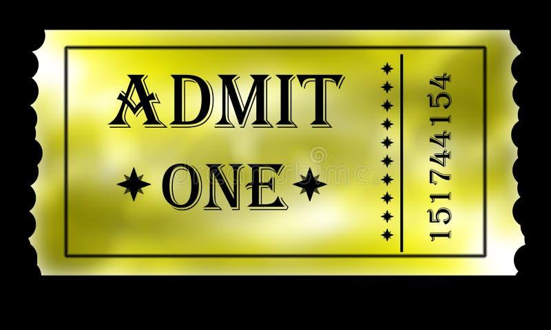 Złoty przyznaje jeden bilet royalty ilustracja