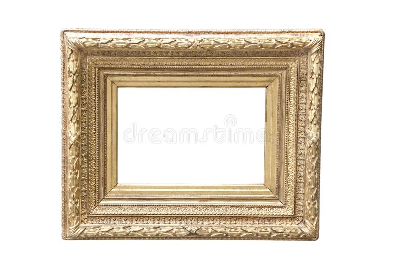 złoty ramowy fotografia stock