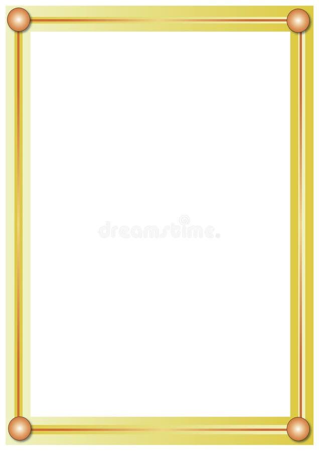 złoty ramowy ilustracji