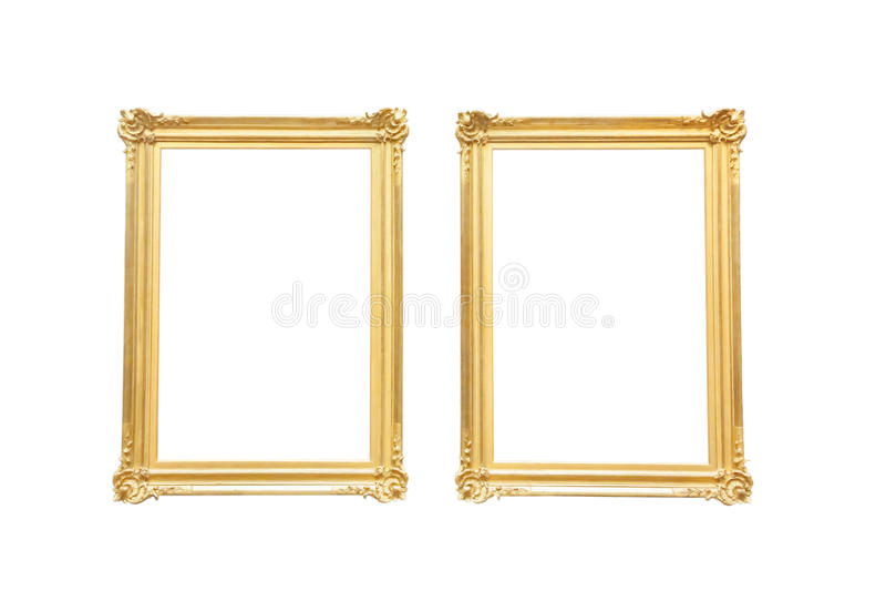złoty ramowy obraz royalty free