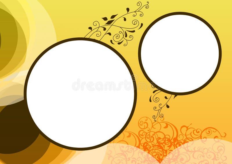 złoty ramowy kwiecisty ilustracji