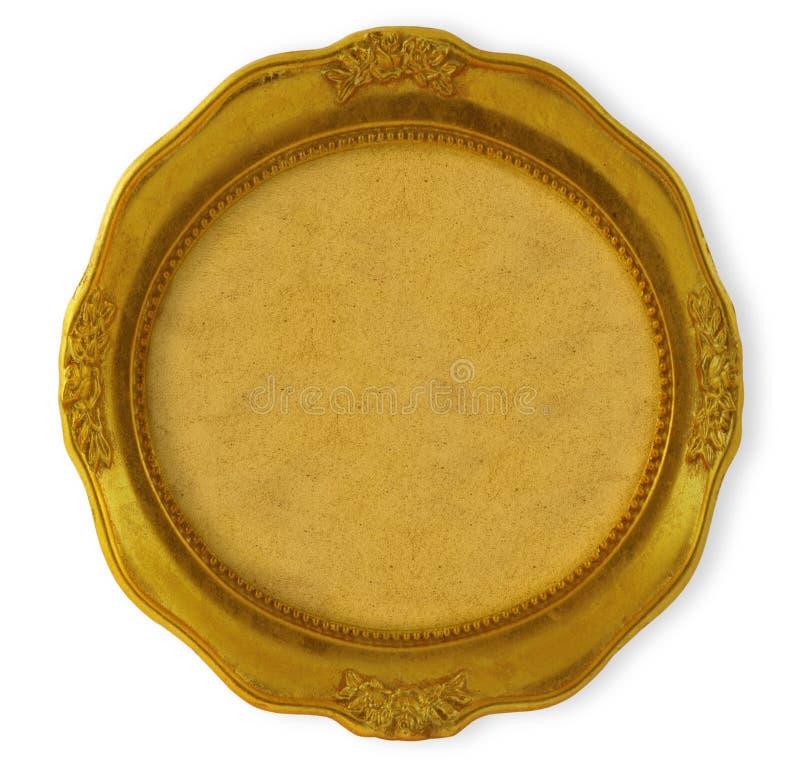 złoty ramowy okólniki zdjęcie royalty free