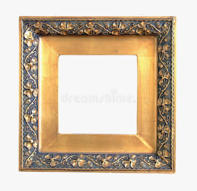 złoty ramowy stare zdjęcie obraz stock