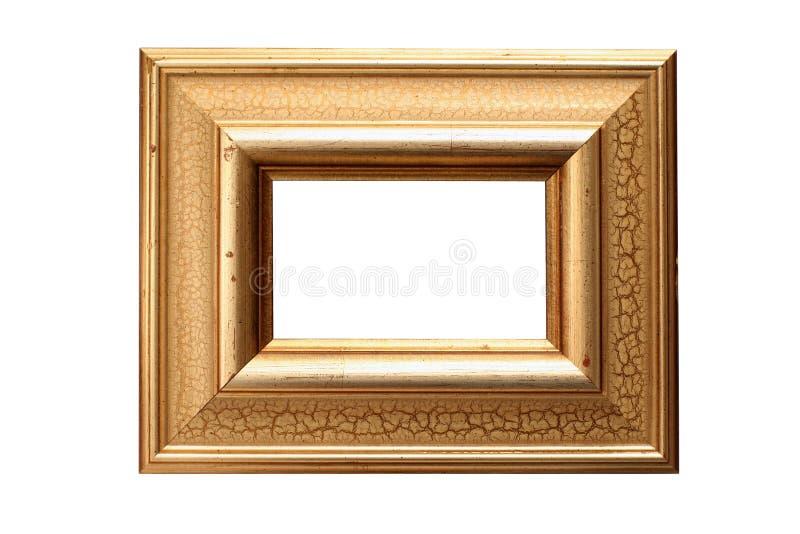 złoty ramowy zdjęcia liści zdjęcia royalty free
