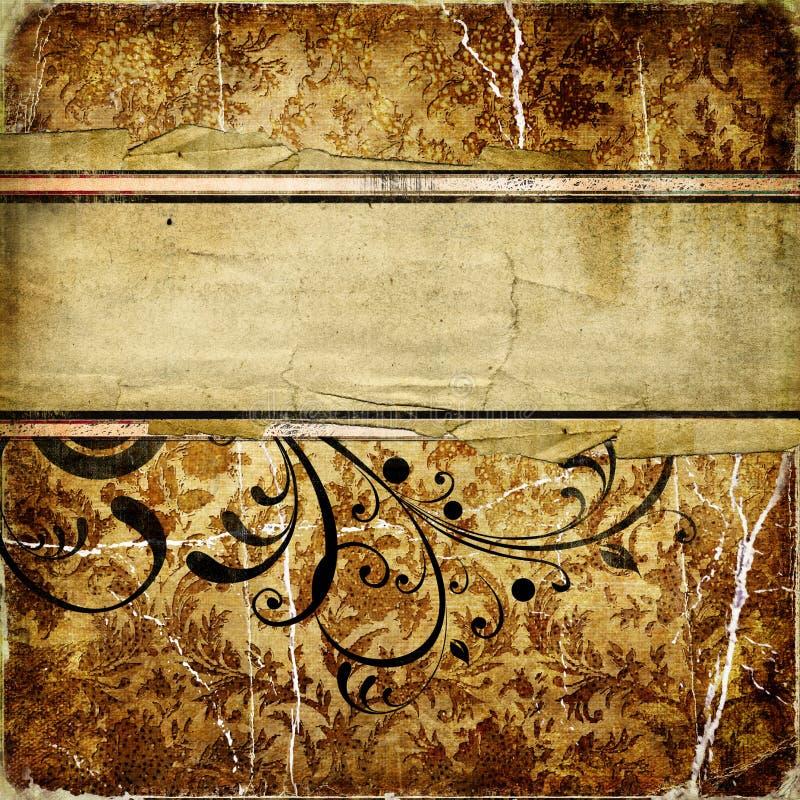 złoty rocznik royalty ilustracja